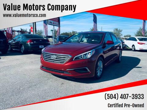 2016 Hyundai Sonata for sale at Value Motors Company in Marrero LA