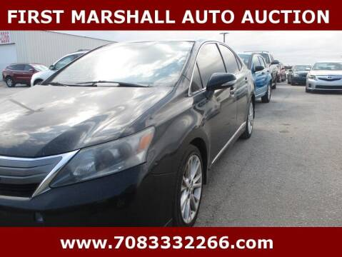 2010 Lexus HS 250h for sale at First Marshall Auto Auction in Harvey IL