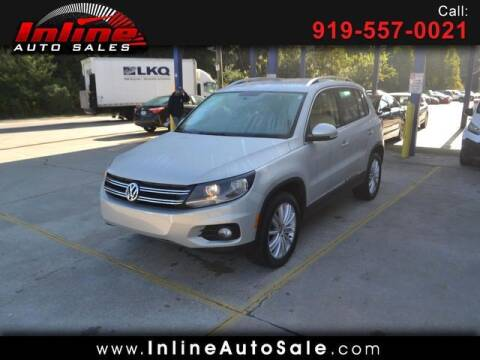 2014 Volkswagen Tiguan for sale at Inline Auto Sales in Fuquay Varina NC