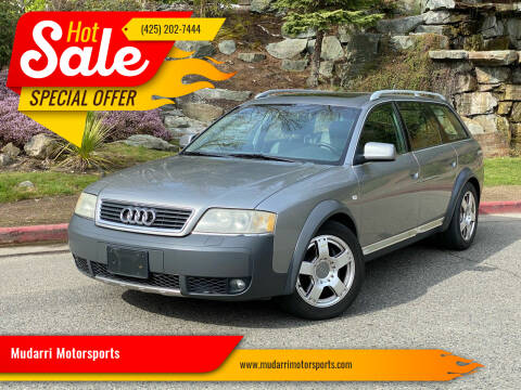 2001 Audi Allroad for sale at Mudarri Motorsports in Kirkland WA