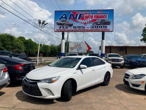 2017 Toyota Camry Hybrid for sale at ANF AUTO FINANCE in Houston TX