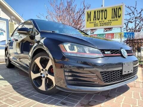 2015 Volkswagen Golf GTI for sale at M AUTO, INC in Millcreek UT