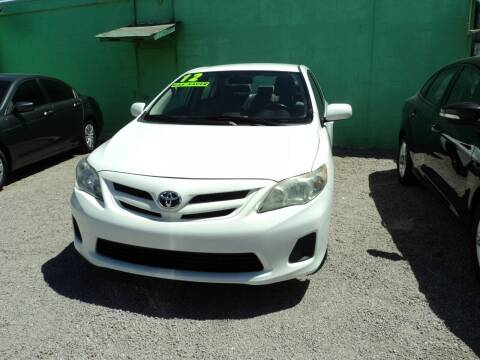 2012 Toyota Corolla for sale at DESERT AUTO TRADER in Las Vegas NV