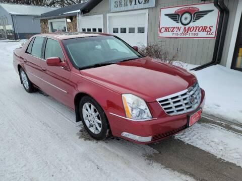 2011 Cadillac DTS for sale at CRUZ'N MOTORS in Spirit Lake IA