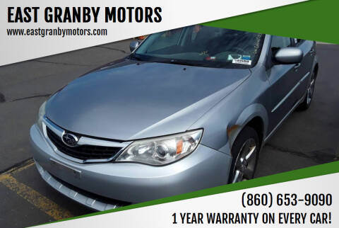2008 Subaru Impreza for sale at EAST GRANBY MOTORS in East Granby CT