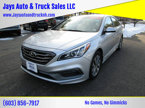 2017 Hyundai Sonata for sale at Jays Auto & Truck Sales LLC in Loudon NH