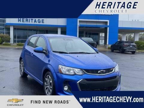2018 Chevrolet Sonic for sale at HERITAGE CHEVROLET INC in Creek MI