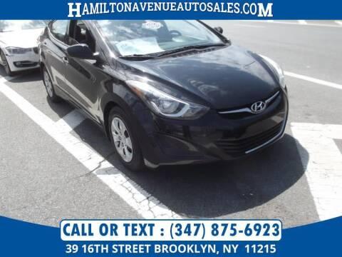 2016 Hyundai Elantra for sale at Hamilton Avenue Auto Sales in Brooklyn NY