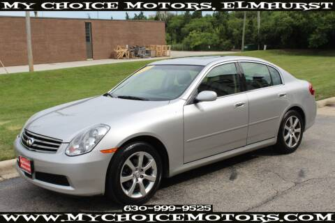 2005 Infiniti G35 for sale at Your Choice Autos - My Choice Motors in Elmhurst IL