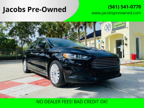 2016 Ford Fusion Hybrid for sale at Jacobs Pre-Owned in Lake Worth FL