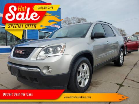2008 GMC Acadia for sale at Detroit Cash for Cars in Warren MI
