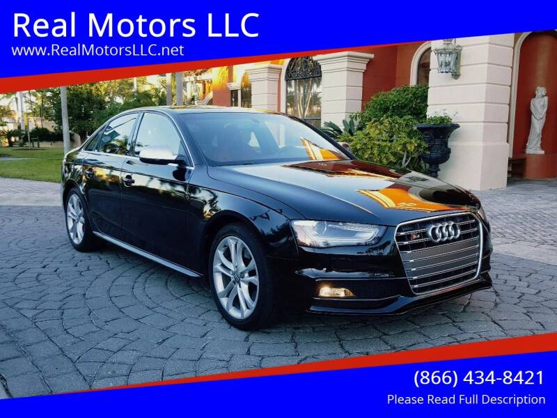 2015 Audi S4 for sale at Real Motors LLC in Clearwater FL