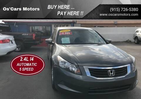 2010 Honda Accord for sale at Os'Cars Motors in El Paso TX