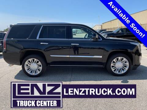 2018 Cadillac Escalade for sale at LENZ TRUCK CENTER in Fond Du Lac WI