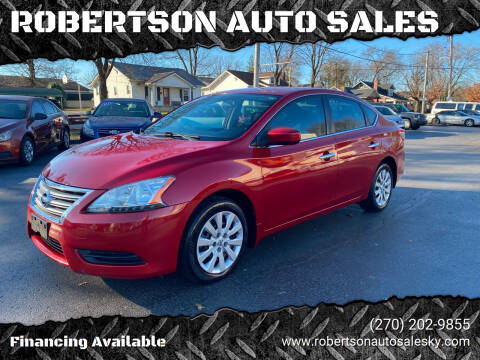 2013 Nissan Sentra for sale at ROBERTSON AUTO SALES in Bowling Green KY