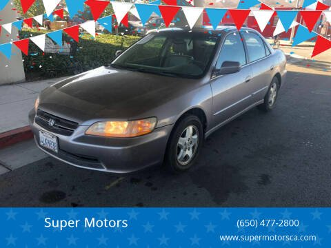 2000 Honda Accord for sale at Super Motors in San Mateo CA