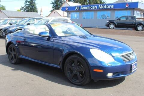 2005 Lexus SC 430 for sale at All American Motors in Tacoma WA