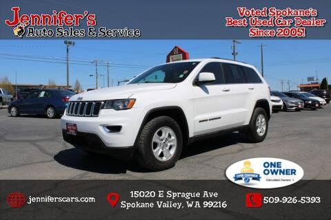 2017 Jeep Grand Cherokee for sale at Jennifer's Auto Sales in Spokane Valley WA