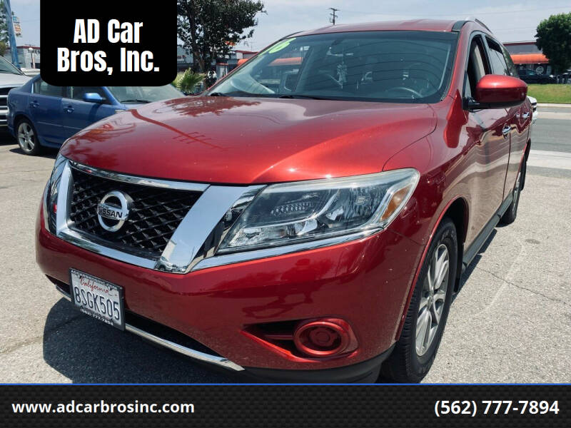 2016 Nissan Pathfinder for sale at AD Car Bros, Inc. in Whittier CA