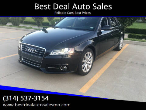 2011 Audi A4 for sale at Best Deal Auto Sales in Saint Charles MO