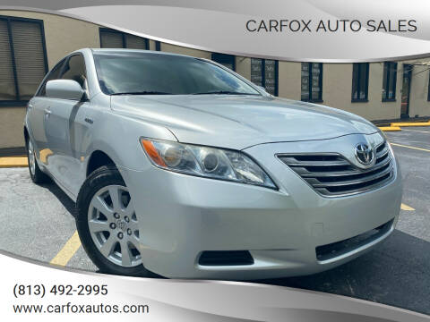 2007 Toyota Camry Hybrid for sale at Carfox Auto Sales in Tampa FL