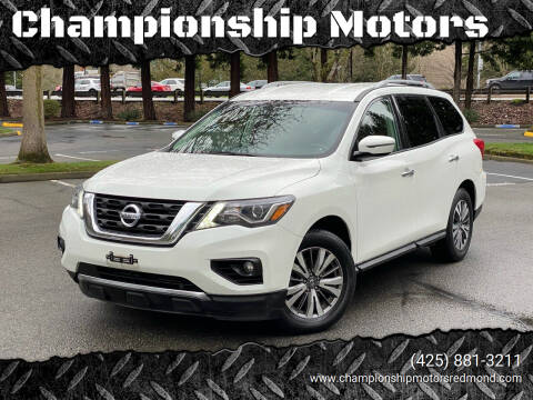 2017 Nissan Pathfinder for sale at Championship Motors in Redmond WA