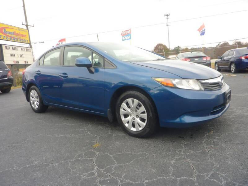 2012 Honda Civic for sale at Roswell Auto Imports in Austell GA