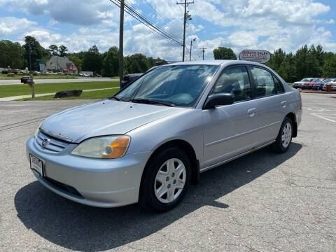 2003 Honda Civic for sale at CVC AUTO SALES in Durham NC