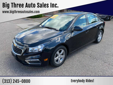 2015 Chevrolet Cruze for sale at Big Three Auto Sales Inc. in Detroit MI
