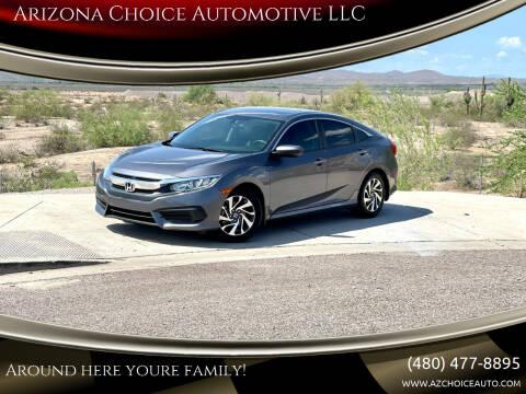 2016 Honda Civic for sale at Arizona Choice Automotive LLC in Mesa AZ