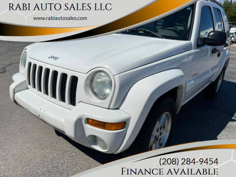 2004 Jeep Liberty for sale at RABI AUTO SALES LLC in Garden City ID