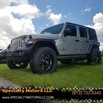 2019 Jeep Wrangler Unlimited for sale at Specialty Motors LLC in Land O Lakes FL