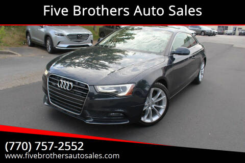 2013 Audi A5 for sale at Five Brothers Auto Sales in Roswell GA
