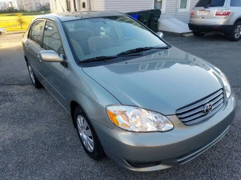 2004 Toyota Corolla for sale at Fortier's Auto Sales & Svc in Fall River MA