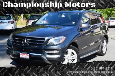 2013 Mercedes-Benz M-Class for sale at Mudarri Motorsports - Championship Motors in Redmond WA