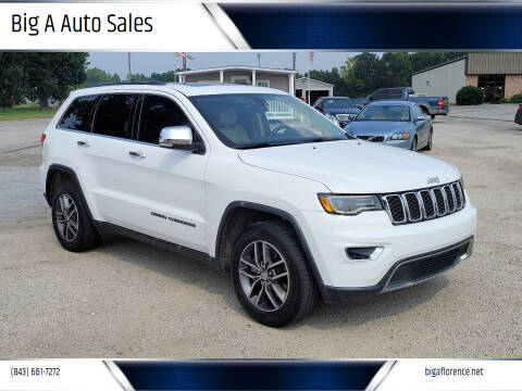 2017 Jeep Grand Cherokee for sale at Big A Auto Sales Lot 2 in Florence SC