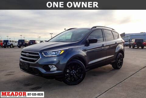 2019 Ford Escape for sale at Meador Dodge Chrysler Jeep RAM in Fort Worth TX