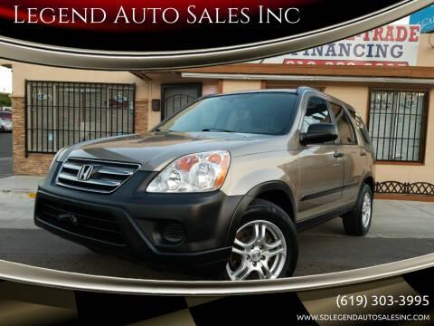 2006 Honda CR-V for sale at Legend Auto Sales Inc in Lemon Grove CA
