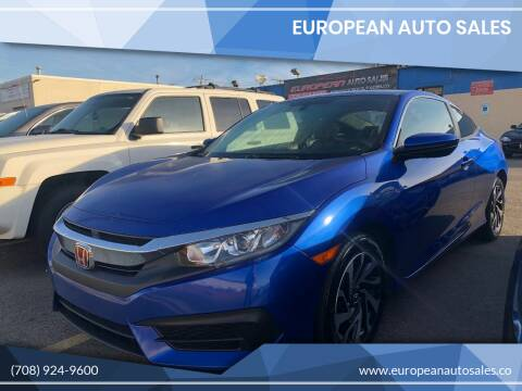 2016 Honda Civic for sale at European Auto Sales in Bridgeview IL