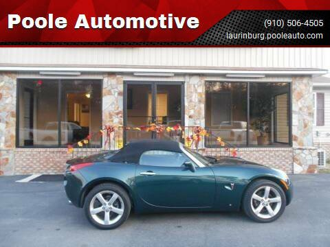 2007 Pontiac Solstice for sale at Poole Automotive in Laurinburg NC
