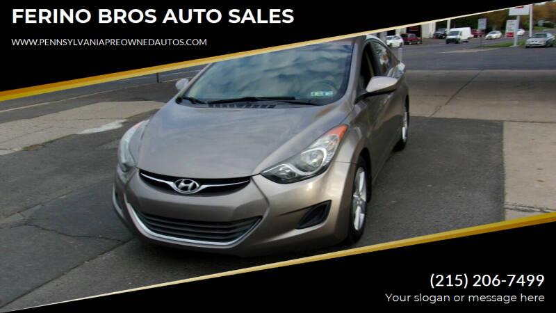 2013 Hyundai Elantra for sale at FERINO BROS AUTO SALES in Wrightstown PA