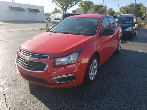 2015 Chevrolet Cruze for sale at KK Car Co Inc in Lake Worth FL