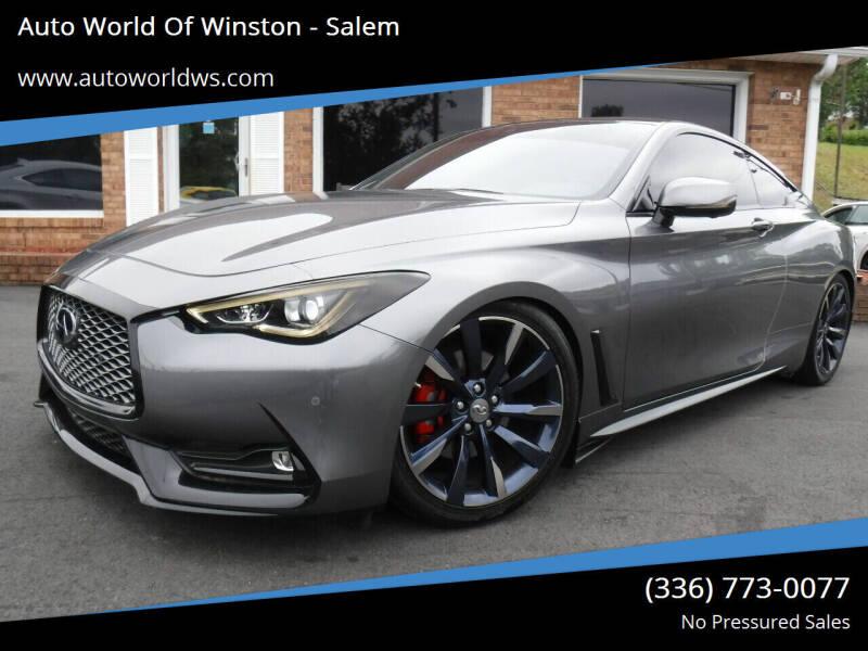 2017 Infiniti Q60 for sale at Auto World Of Winston - Salem in Winston Salem NC