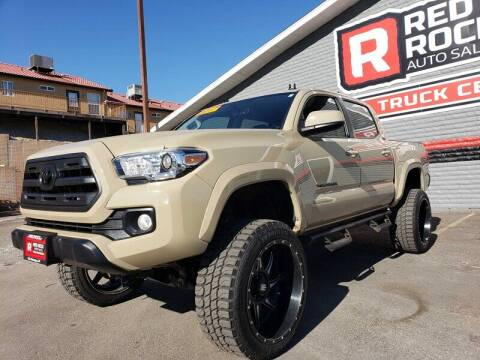 2017 Toyota Tacoma for sale at Red Rock Auto Sales in Saint George UT