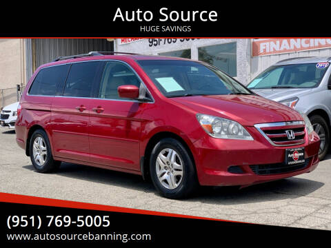 2006 Honda Odyssey for sale at Auto Source II in Banning CA
