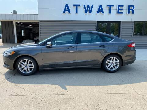 2015 Ford Fusion for sale at Atwater Ford Inc in Atwater MN