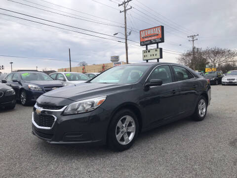 2015 Chevrolet Malibu for sale at Autohaus of Greensboro in Greensboro NC
