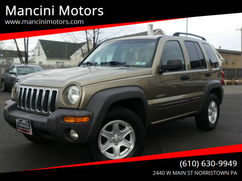 2004 Jeep Liberty for sale at Mancini Motors in Norristown PA