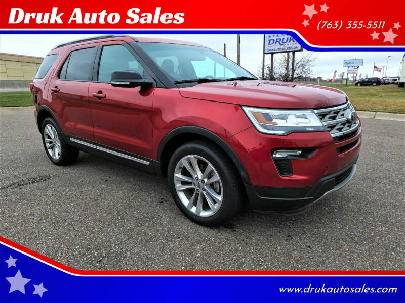 2018 Ford Explorer for sale at Druk Auto Sales in Ramsey MN