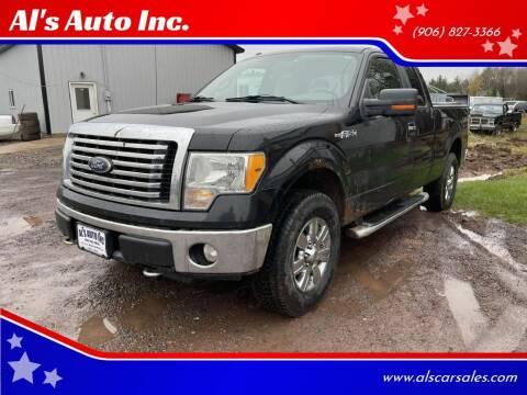 2010 Ford F-150 for sale at Al's Auto Inc. in Bruce Crossing MI